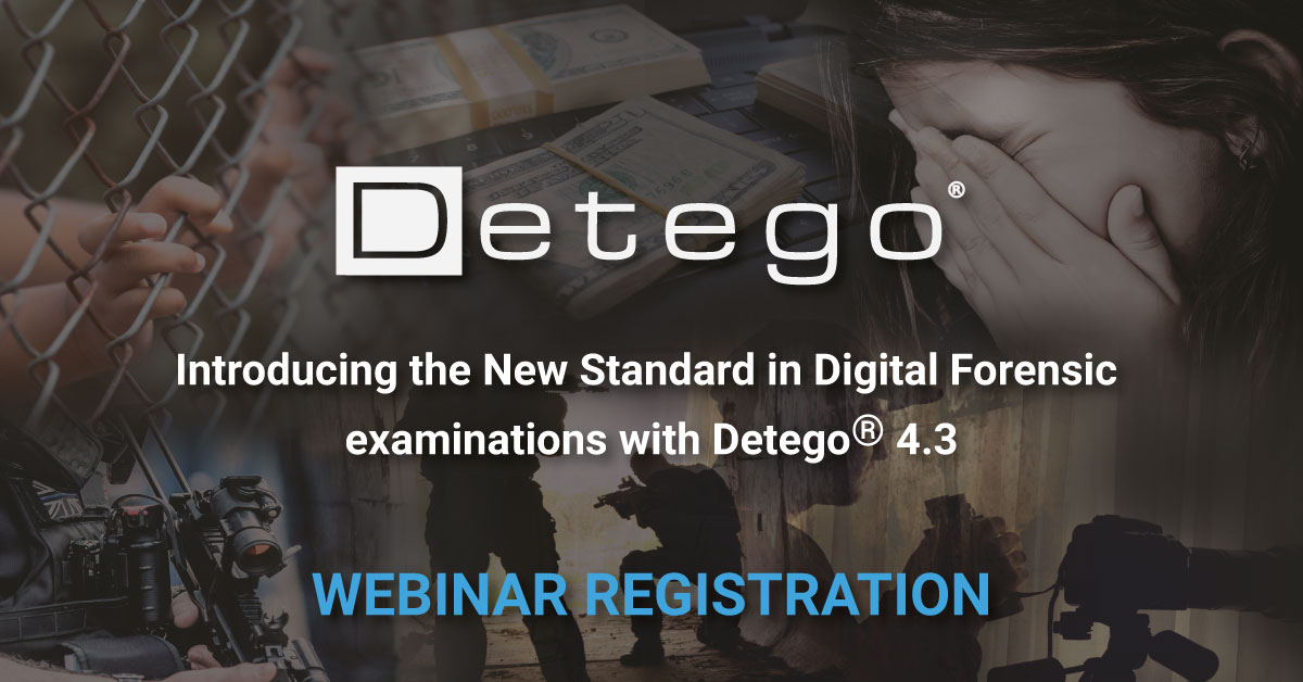 Detego v4.3 Webinar Registration