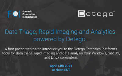 Data Triage and Rapid Imaging powered by Detego